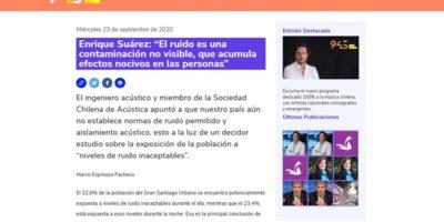 """Radio USACh: Enrique Suárez: """"El ruido es una contaminación no visible, que acumula efectos nocivos en las personas"""""""
